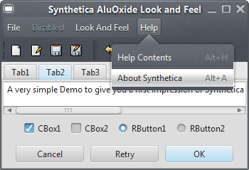 SyntheticaAluOxide Java Look and Feel