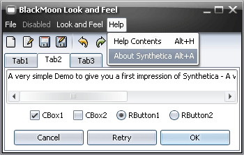 SyntheticaBlackMoon Java Look and Feel