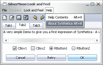 SyntheticaSilverMoon Java Look and Feel