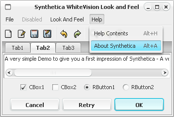 SyntheticaWhiteVision Java Look and Feel